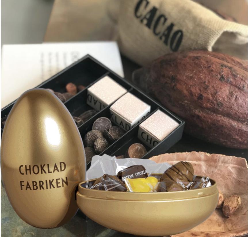 Chokladprovning och utsökt chokladägg