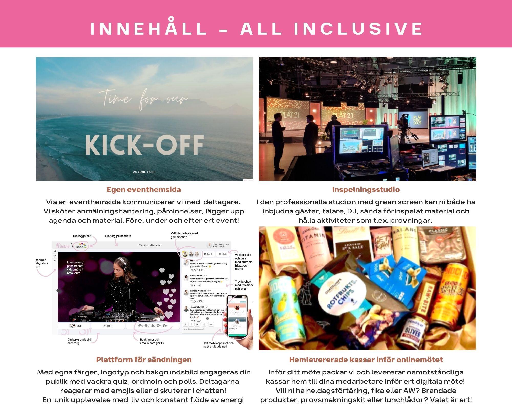 Innehållet i vårt digitala paket med all inclusive!