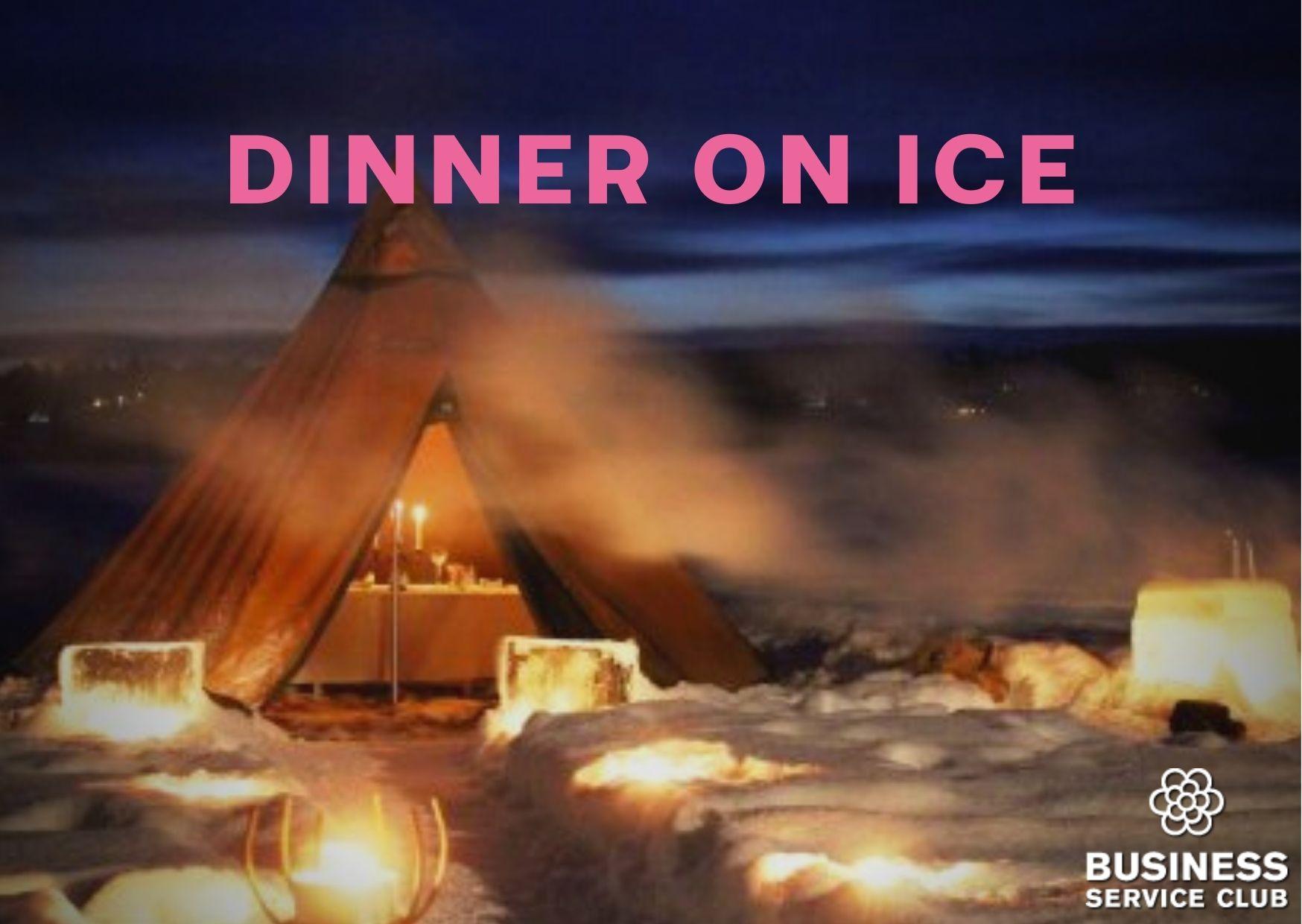 Dinner on ice - ät maten ute på isen!