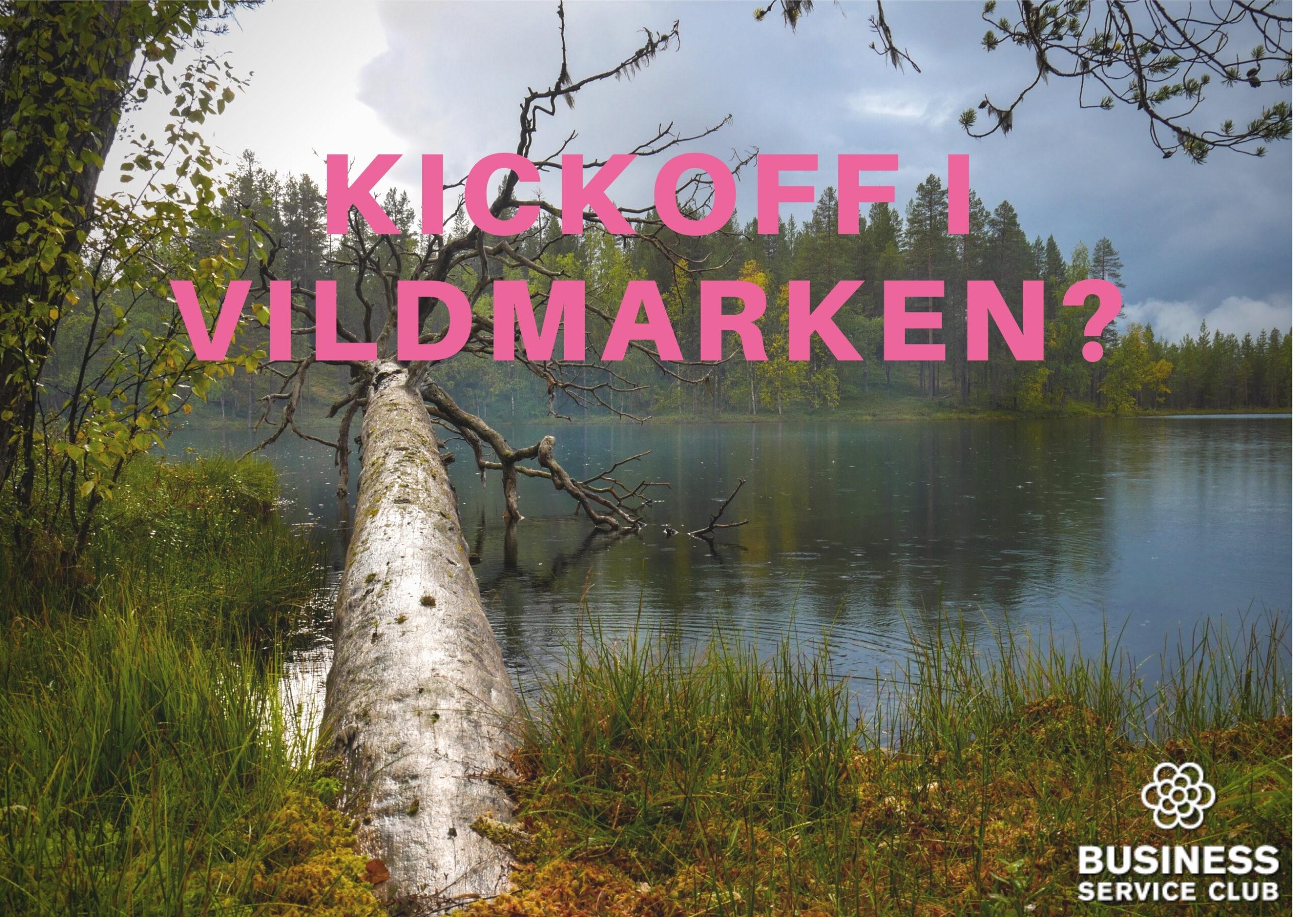 Kickoff eller konferens i vildmarken