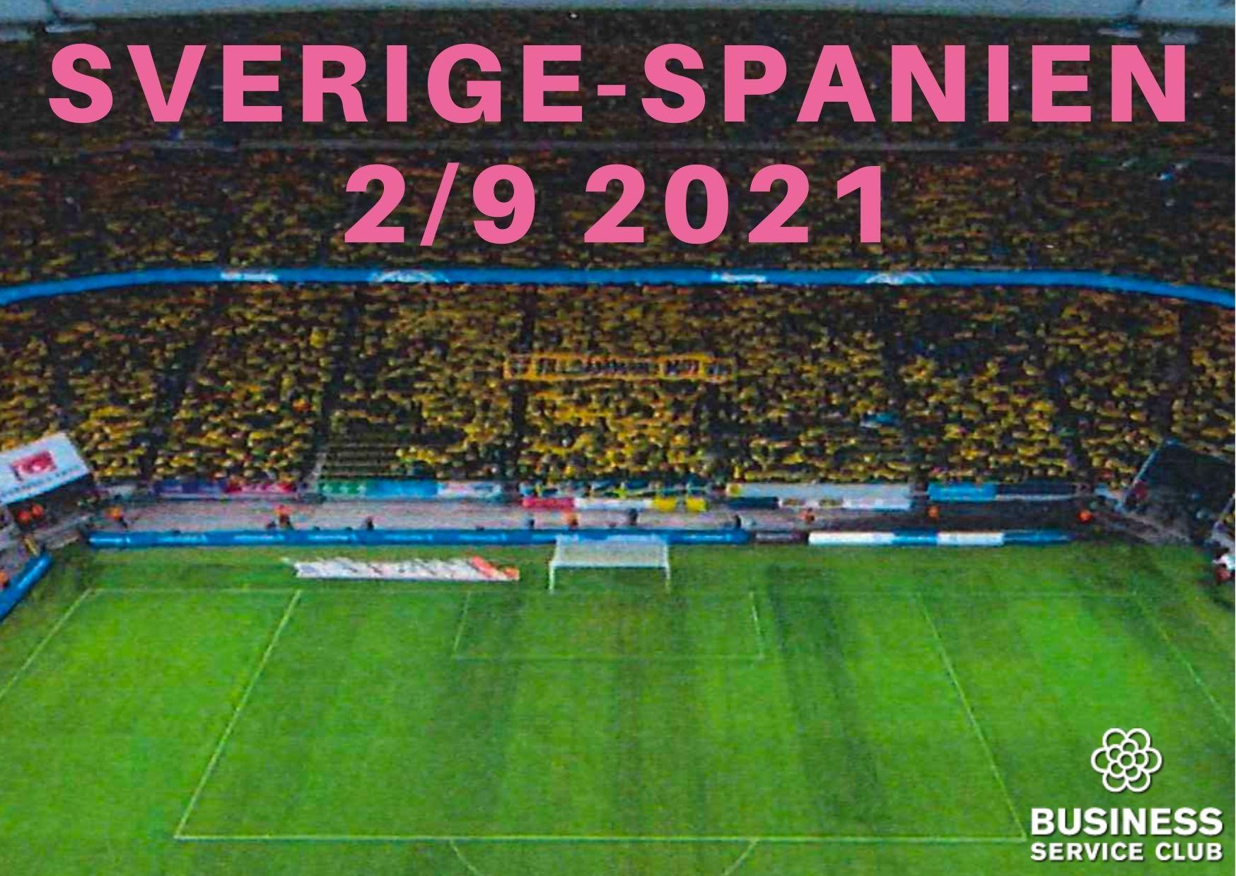 Kvalmatch Sverige-Spanien 2/9 2021. En av de bästa höstaktiviteterna!